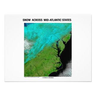 Snow Across Mid-Atlantic States Custom Invite