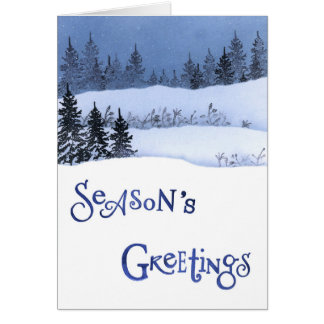 Snow and Christmas Tree Card