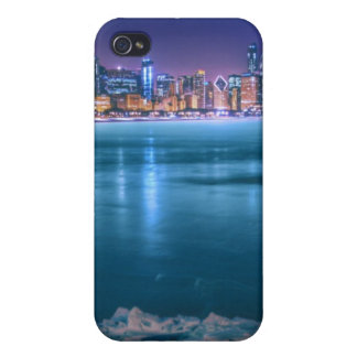 Snow and ice abound on Lake Michiga at Arctic iPhone 4 Cover