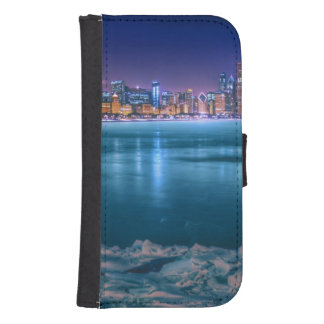Snow and ice abound on Lake Michiga at Arctic Samsung S4 Wallet Case