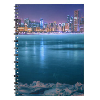 Snow and ice abound on Lake Michiga at Arctic Spiral Notebooks