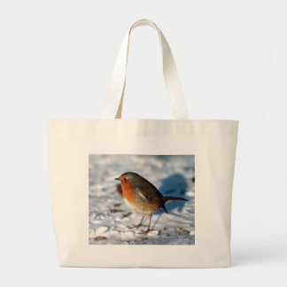Snow and Robin Large Tote Bag