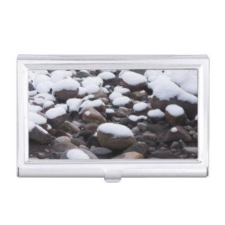 Snow And Rocks, Mt. Rainier National Park Business Card Case