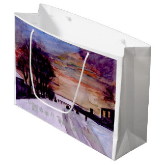 Snow and sunset Christmas Gift bag