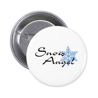 Snow Angel 6 Cm Round Badge