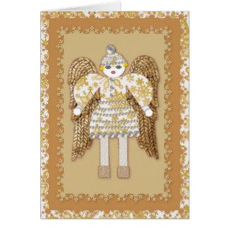 Snow Angel Christmas Greeting Card