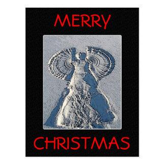 Snow Angel Christmas Postcard