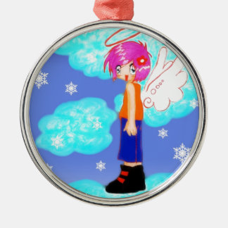 snow angel design christmas ornament