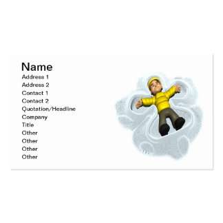 Snow Angel Pack Of Standard Business Cards