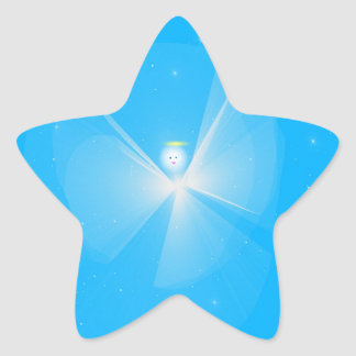 Snow Angel Star Sticker