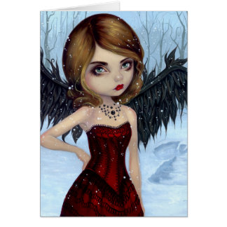 """Snow Angels"" Greeting Card"