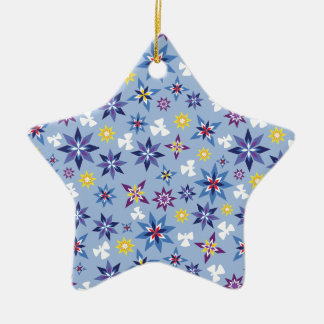 Snow Angels in blue Christmas Ornament