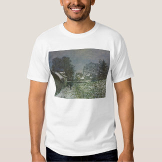Snow at Argenteuil by Claude Monet, Vintage Art T-shirts