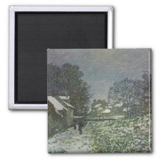Snow at Argenteuil II, Monet Vintage Impressionism Refrigerator Magnets