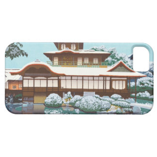 Snow At Hiunkaku Temple japanese winter scenery iPhone 5 Covers
