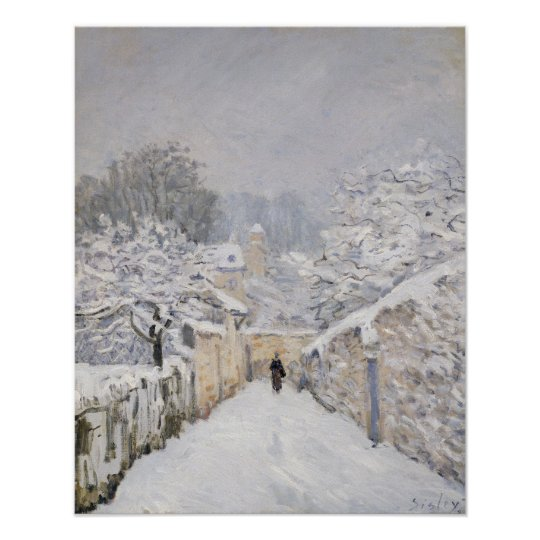 Snow at Louveciennes, 1878 Poster
