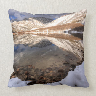 Snow at North Lake, California Throw Pillow