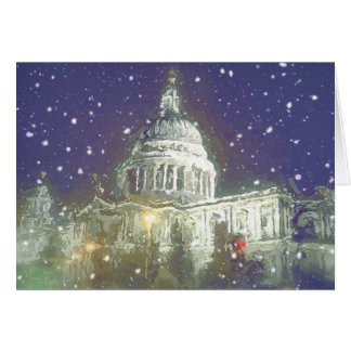 Snow at St Pauls Greeting Card