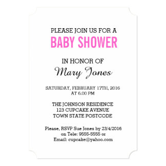 Snow Baby 'Baby Shower' Invitation