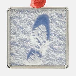 Snow background christmas ornament