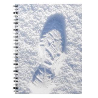 Snow background spiral notebook