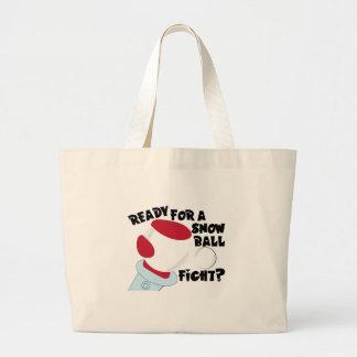 Snow Ball Fight Jumbo Tote Bag