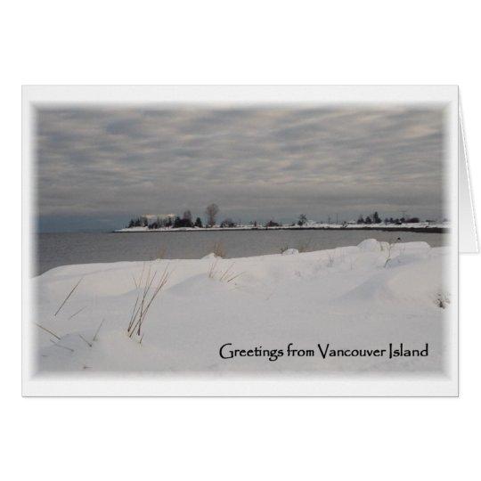 Snow Beach Card