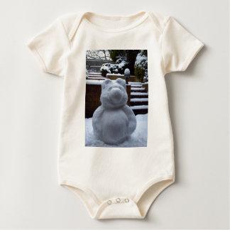 Snow Bear Baby Bodysuit