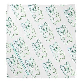 Snow Beast Reviews Bandana-Green/Blue Head Kerchief