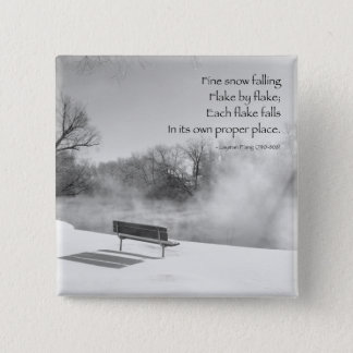 Snow Bench in Silence 15 Cm Square Badge