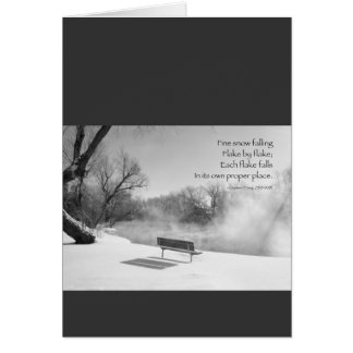 Snow Bench in Silence Card
