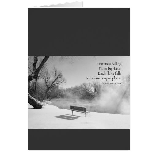 Snow Bench in Silence Cards