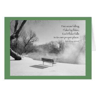 Snow Bench in Silence Greeting Card