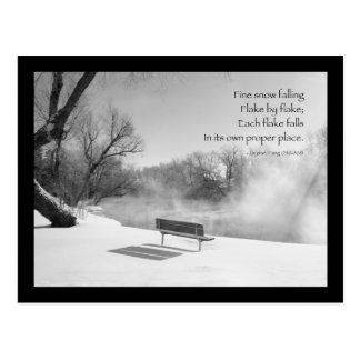 Snow Bench in Silence Postcard