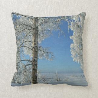 Snow Birches Cushion