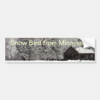Snow Bird Bumper Sticker