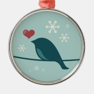 Snow Bird Christmas Ornament