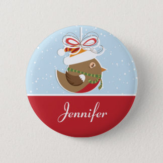 Snow Bird Christmas Party Name Badge | Name Tags