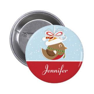 Snow Bird Christmas Party Name Badge | Name Tags