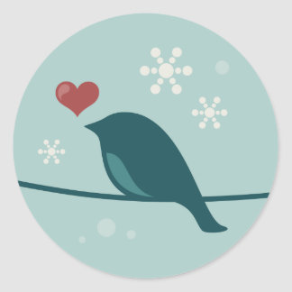 Snow Bird Classic Round Sticker