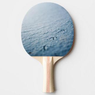 Snow bird tracks ping pong paddle