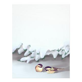 SNOW BIRDS by SHARON SHARPE 21.5 Cm X 28 Cm Flyer