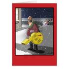 Snow Blower Settings Christmas Joke Card