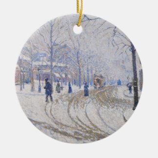 Snow, Boulevard de Clichy, Paris, 1886 Christmas Ornament