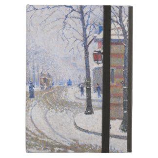 Snow, Boulevard de Clichy, Paris, 1886 iPad Air Cases