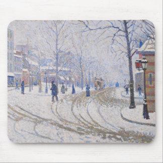 Snow, Boulevard de Clichy, Paris, 1886 Mouse Pad