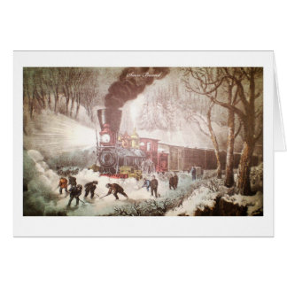Snow Bound Train Greeting Card
