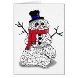 Snow Brain Greeting Cards