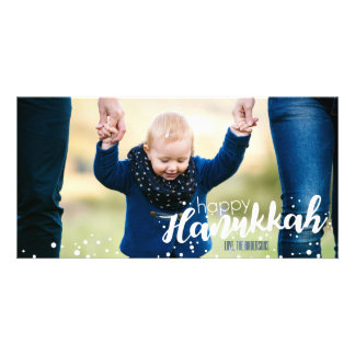 Snow Bubbles Happy Hanukkah Photo Card