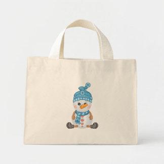 Snow Buddy Pixel Art Mini Tote Bag